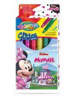 Set de markere cu sclipici 6 culori- Colorino Disney Minnie Mouse
