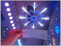 """купить Световая фигура """"Снежинка"""" 100cm 245LED, бел/синий цвет  в Кишинёве"""