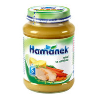 Hamanek пюре телятина с овощами 5+ мес., 190 г