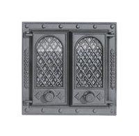 Дверца чугунная со стеклом двустворчатая Halmat - LITWA II