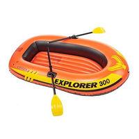 Набор надувная лодка + весла INTEX 58332NP