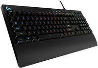 Tastatură pentru jocuri Logitech G213 Prodigy, Mech-Dome, rezistență la scurgeri, comenzi media, RGB, negru, USB