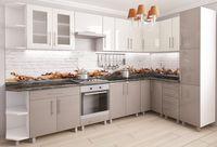Bucătărie Bafimob Corner (High Gloss) 3.4x1.7m White/Cappuccino