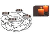 """купить Подсвечник никеллерованный """"Гнездо"""" на 4 свечи D36cm в Кишинёве"""
