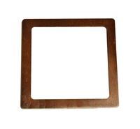 Mâner din lemn, cafeniu închis / 15x15 cm