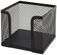 Luromax Бумажница металлическая LUROMAX 10x10x8 см, сетка черная
