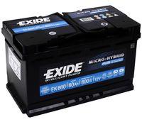 **АКБ Exide Start-Stop AGM 12V  80Ah  800EN 315x175x190 -/+, EK800