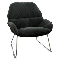 купить Пластиковый стул с обивкой, железные ножки 805x695x865 мм, черный с темно-серым в Кишинёве