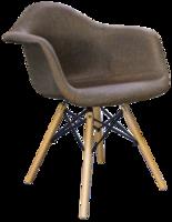 cumpără Scaun tapiţat cu picioare de lemn cu suport metalic, 460x640.5x480x800 mm, cafeniu în Chișinău