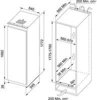 Встраиваемый холодильник Franke FSDB 340 NR V
