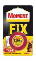 купить Скотч двухстор. 19mm x 1.5m Moment Fix Tape (120 кг) в Кишинёве