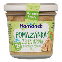 Пюре Hamanek овощи с чечевицей с 12 месяцев, 90г