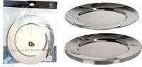 Набор тарелок EH 6шт D23cm, цвет металлик, пластик