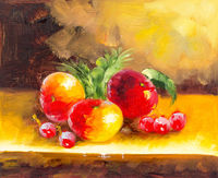 "Oil Paintings Nature morte ""Les fruits"" (NAT05000911)"