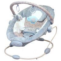 Baby Mix LCP-BR245-3GREY Шезлонг с музыкой и вибрацией серый