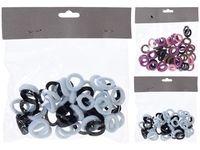 Set elastice pentru par scurt 50buc, 4 culori