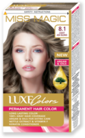 Vopsea p/u păr, SOLVEX Miss Magic Luxe Colors, 108 ml., 8.1 - Blond cenușiu deschis