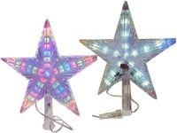 """Верхушка светящаяся """"звезда"""" 23X21.5cm, бел, разноцв"""