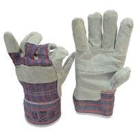 Перчатки рабочие замш с х/б тканевой вставкой Dnipro-M 2068
