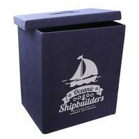 купить Коробка с морской тематикой 410x310x490 мм, синий в Кишинёве