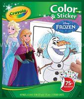 """Crayola 04-5864 Книга-раскраска """"Холодное сердце"""" с наклейками"""