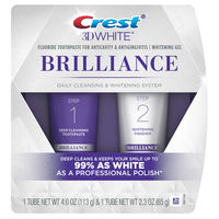 Crest 3D White Brilliance + Whitening Two-step Toothpaste