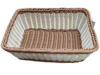 Корзинка для хлеба плетеная прямоугольная 25X35X13cm, 2-х цв