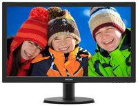 """23.6"""" Philips """"243V5QHABA"""", Black (MVA, 1920x1080, 8ms, 250cd, LED10M:1, D-Sub,DVI,HDMI, Speakers) (23.6"""" MVA LED, 1920x1080 Full-HD, 0.272mm, 8ms GTG, 250 cd/m², DCR 10 Mln:1 (3000:1), 16.7M Colors, 178°/178° @CR>10, 30-83 kHz(H)/56-75 Hz(V), DVI-D, HDMI, Analog D-Sub, Stereo Audio-In, Headphone-Out, Built-in speakers 2Wx2, Built-in PSU, Fixed Stand (Tilt -5/+20°), VESA Mount 100x100, Black Hairline)"""
