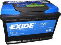 **АКБ Exide  EXCELL 12V  74Ah  680EN  278x175x190 +/-, EB741