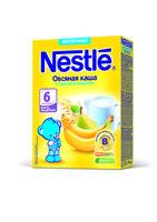 Nestle каша овсяная молочная с грушей и бананом, 6+мес. 220г
