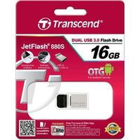 Micro-USB Flash Drive Transcend JetFlash 880 Silver 16Gb