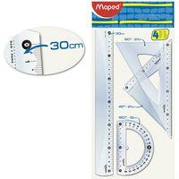 MAPED Набор линеек MAPED Cristal Maxi, 4 штуки