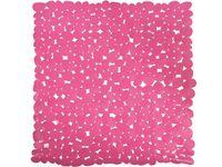 """Коврик для душа 53X53cm """"Галька"""" розовый, PVC"""