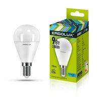 Светодиодная лампа Ergolux G45 9W E14 45K