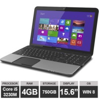 "Ноутбук Toshiba Satellite C855 (15.6"" i5 3230M HDGraphics 8GB 750GB Win8) Gray"