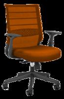 купить Офисный стул с оранжевой сетчатой спинкой и оражевым в Кишинёве