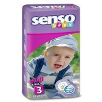 Senso Baby Scutece Midi 3, 4-9 kg, 44 buc.