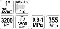 Mașină de înșurubat pneumatică Yato YT-09615