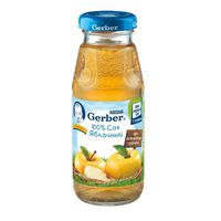 Gerber сок яблоко c 3 мес. 175 мл