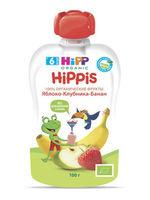 Hipp Hippis пюре клубника малина и яблоко, 6 мес, 100 гр