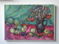 Натюрморт с фруктами, 50x70 см, холст, масло