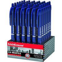 EKRAUSE Ручка шарик. EKRAUSE Megapolis авт. 0.7мм синяя/36 диспл