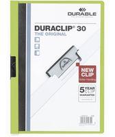 Durable Папка с клипом DURACLIP 30 A4 пластиковая зеленая