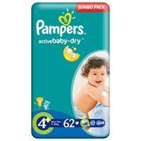 Scutece PAMPERS JUMBO MAXI+ 62 (4+)