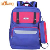 Школьный ортопедический рюкзак для девочек Aoking B7108 со светоотражающими полосками