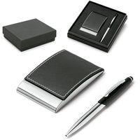 Комплект ручка металлическая + визитница карманная