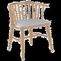 cumpără Scaun din lemn cu şezut tapiţat de culoare gri, 560x540x730 mm în Chișinău