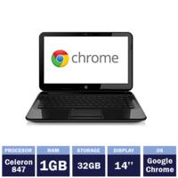 "Ноутбук HP Pavilion 14-c001sa Chromebook Black (14"" | Intel Celeron 847 | 1GB RAM | 32GB SSD | Google Chrome OS)"