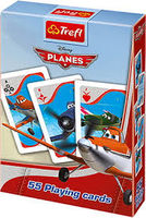 "08610 Trefl ""Playing Cards 55 leaves for children"" Planes / Disney"