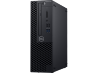 DELL OptiPlex 3060 SFF lntel® Core® i3-8100 (Quad Core, 3.60GHz, 6MB), 8GB DDR4 RAM, 256GB SSD, DVD-RW, lnteI® UHD630 Graphics, TPM, 200W PSU, USB mouse, USB KB216-B, Ubuntu, Black
